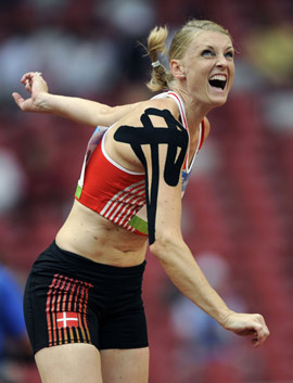 Danish Athletic Star with Kinesio Tape
